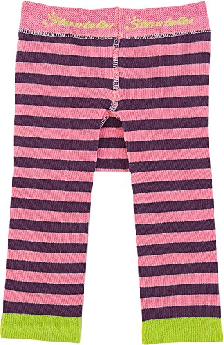 Sterntaler Unisex - Baby, Legging, 8761501 Leggins Ringel, GR. 80 (Herstellergröße: 80), Rosa (765 Pink)