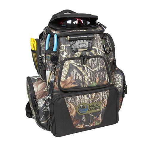 Wild river tackle tek nomad lighted backpack mossy oak for Fishing backpack amazon