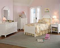 Hot Sale Hillsdale Westfield White Full Size Bed, Rails, Nightstand, Dresser, Mirror, Chest