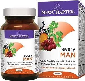(直降)New Chapter Every Man新章男性有机全食物营养素72粒SS+折后$16.85,