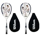 2 x Wilson NCode NPower Blue Squash Racket RRP £120