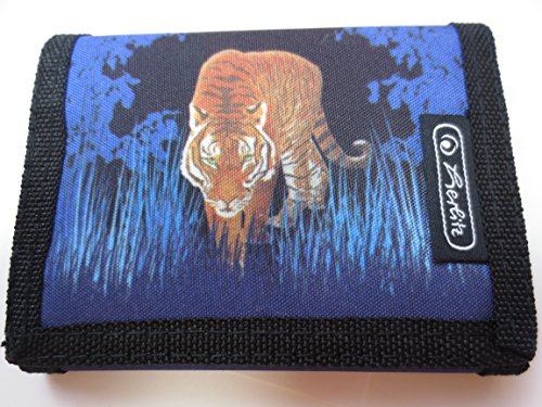 Purse Tiger Blue/black for Children