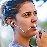 Alpatronix EX110 High Performance Universal In-Ear Earphones with Built-In Mic (White)