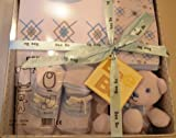 Baby Gift Box 0-3 months -Bodysuit, bib ,toy and socks by Bee Bo -Various Colours (Blue)