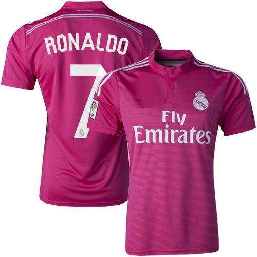 best cheap 4ed00 042de Real Madrid Ronaldo Soccer Jersey Home (White) / Away (Pink ...