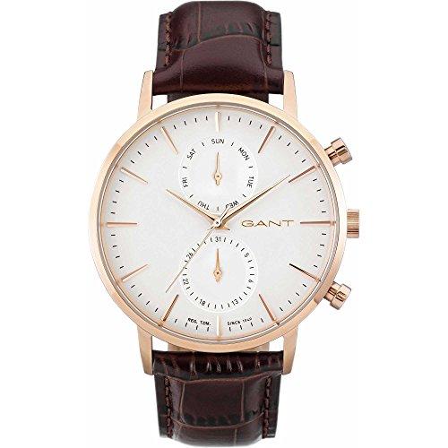 Hombre-reloj gant time Park Hill DAY-DATE analógico de cuarzo de cuero W11203