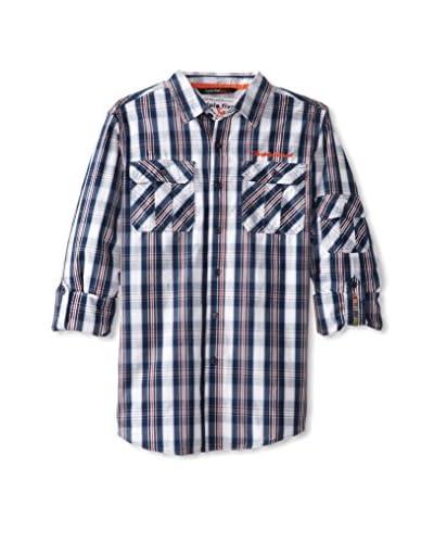 Triple Five Soul Men's Long Sleeve Roll-Up Shirt