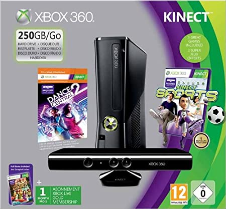 Xbox 360 - Consola 250 Gb Holiday (Adventure + K Sport 1 + Dance Central 2 + Kinect sensor + Live 1 Mes)