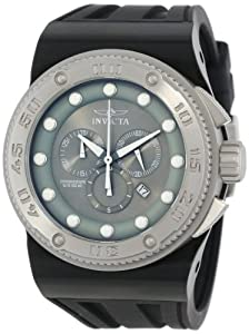 Invicta Men's 12293 Akula Sport Chronograph Grey Dial Black Silicone Watch