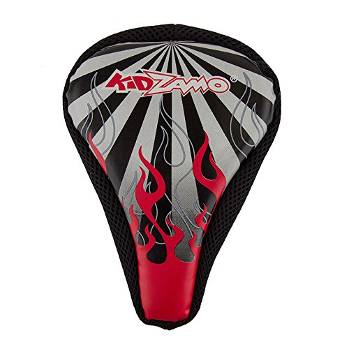 Bicycle Seat Cover Kidzamo Flame Red/Black (Red Flame Seat Covers compare prices)