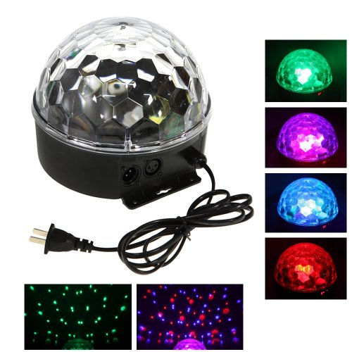 Rgb Led Dmx Voice Activated Colorful Rotating Spot Light Bulb Lamp For Party Dj