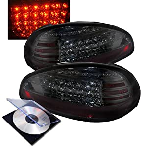 RXMOTOR 1997-2003 PONTIAC GRAND PRIX GT GTP SE REAR BRAKE LED TAIL LIGHTS + INSTALL GUIDE