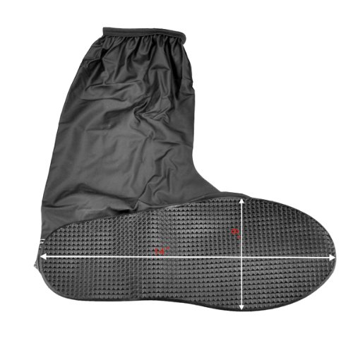Rain Gear Bike Boot Shoes Cover Gaiter Anti Slip Sole Side Zippered US Men Size 12-13