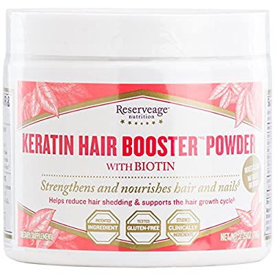 Reserveage - NEW Keratin Hair Booster Powder with Biotin, Strengthens + Nourishes Hair and Nails, 30 Servings