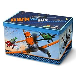 Delta Canvas Toy Box Disney Planes - Caja de almacenamiento para juguetes, diseño de película Aviones, color azul marca Delta Children