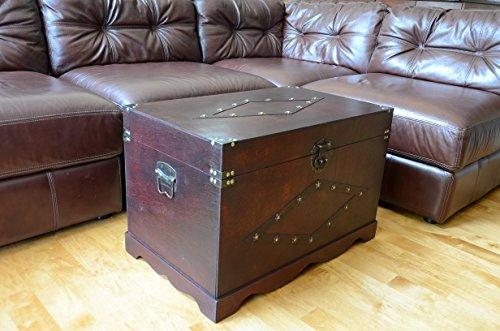 Jamestown Chest Wooden Steamer Trunk - Large Trunk 2