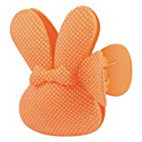 Women Lady Dots Printed Rabbit Design Hair Claw Barrette Hairclip Orange