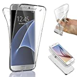 SAVFY® Custodia full body Samsung Galaxy S7 Edge, Protezione a 360°, Morbido TPU Case Cover Ultra Sottile, Resistente Ai Graffi - Trasparente