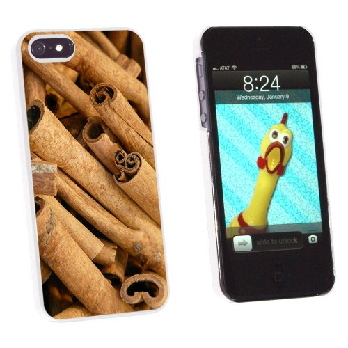 Cinnamon Sticks - Dried Brown Spice - Snap On Hard Protective Case for Apple iPhone 5 5S - White