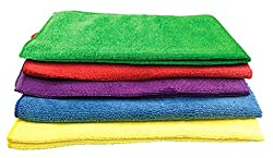ManeKo Multicolor Microfiber Drying & Car Cleaning Vehicle Washing Cloth - Pack of 5