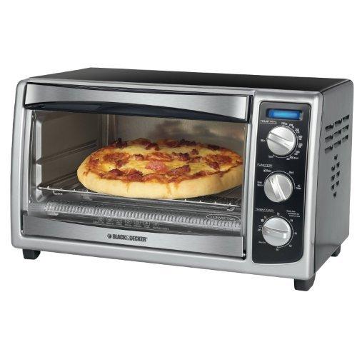 Black & Decker 6-Slice Toaster Oven, Black (Certified Refurbished) (Black Decker 6 Slice compare prices)