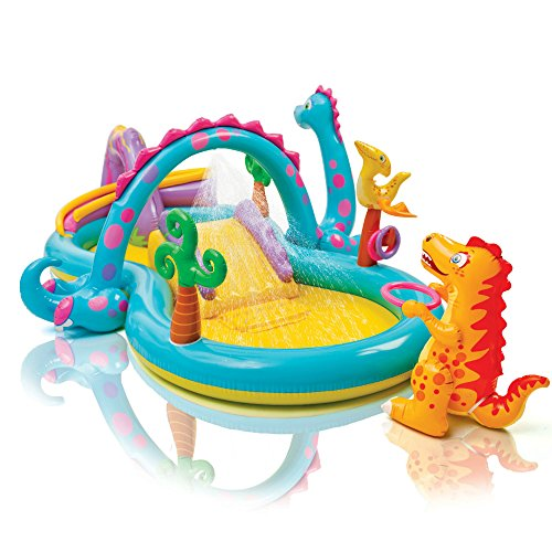 "Intex Dinoland Inflatable Play Center, 131"" X 90"" X 44"", For Ages 3+"