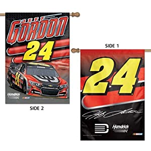 NASCAR #24 Jeff Gordon House Flag 2 Sided Vertical Banner 2014 by WinCraft