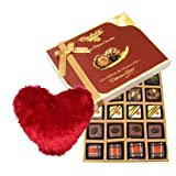Valentine Chocholik's Belgium Chocolates - Greatest Hits Collection Chocolate Gift Box With Heart Pillow