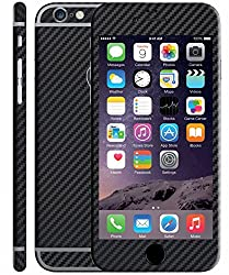 Exclusive Full Body Black Color Carbon Fiber Vinyl Mobile Skin Sticker For Apple IPhone 6