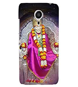 ColourCraft Lord Sai Baba Design Back Case Cover for MEIZU MX5