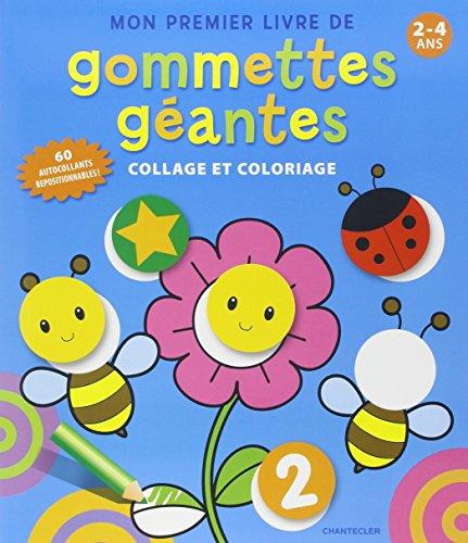 Mon premier livre de gommettes géantes : Collage et coloriage