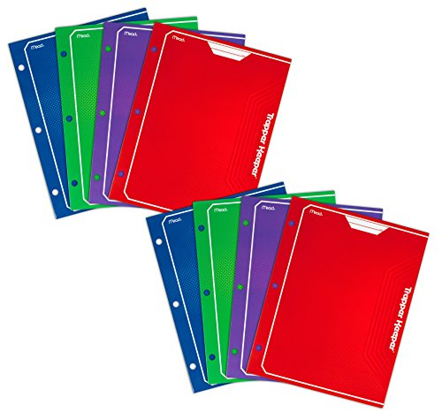 mead-trapper-keeper-2-pocket-portfolio-12-x-938-x-12-inches-assorted-pack-of-8-73043