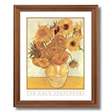 Vincent Van Gogh Sunflowers Floral Wall Picture Oak Framed Art Print