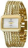 AK Anne Klein Women's 107208SVGB Diamond Accented Gold-Tone Bracelet Watch