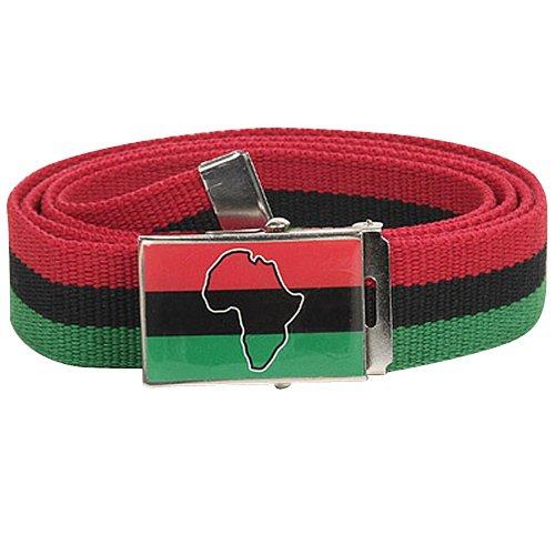 Rasta Belt-Africa Red Black Green Jamaican Style