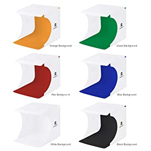 Mini Photo Studio Box, Light Box Photography Shooting Light Tent Kit, Portable Folding Photo Light Box with220 LED Lights, 6 Colors Photography Waterproof Backdrops (20cm x 20cm) (Color: 20cm x 20cm)