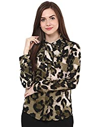 Animal Print Pussy Knot Blouse Large