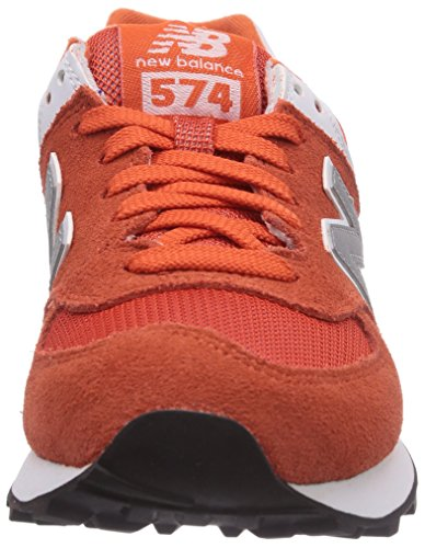 888546369627 - New Balance Men's ML574 Picnic Pack Collection Classic Running Shoe, Orange/Silver, 7 D US carousel main 3