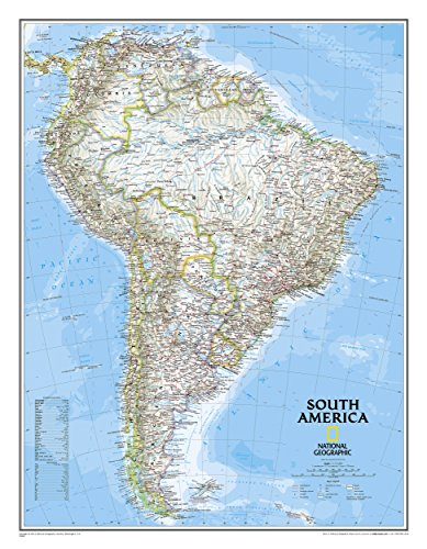 **South America Politique61 Cm X 76 Cm