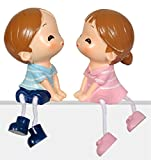 Pragati Pro couple table décor cute gift for valentines day - kiss couple with thread legs
