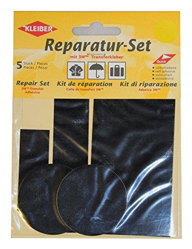kleiber-5-piece-self-adhesive-nylon-clothing-repair-patch-set-black