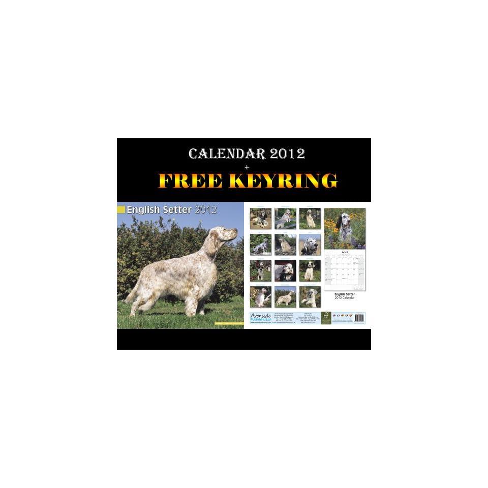 English Setter Dogs Calendar 2012 + Free Keyring AVONSIDE