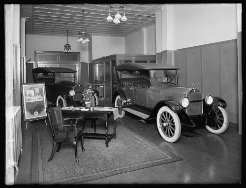 Photo Scripps Booth interior 1920