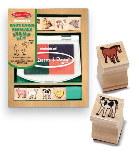 51nxdGFNLLL Buy  Melissa & Doug Baby Farm Animals Stamp Set