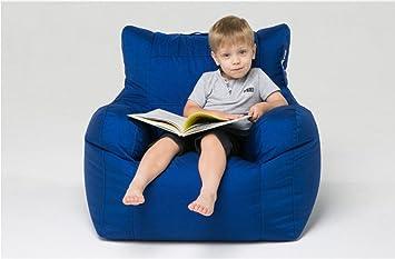 Kinder Sofa Single mit einem Handlauf Erwachsenen faul Sofa Bohnenbeutel Schlafzimmer Wohnzimmer Sofa Floating Window Sofa ( Farbe : Gemstone Blue )