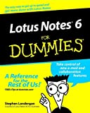 Stephen R. Londergan Lotus Notes R6 For Dummies