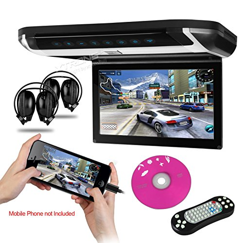 "Xtrons® Hdmi 10"" Hd Digital Tft Monitor Car Roof Flip Down Overhead Dvd Player Usb Sd Cd Fm Game Disc Built-In Fm&Ir Transmitter Ir Headphones"
