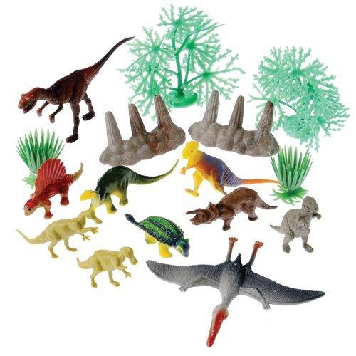 US Toy Company 4246 Dinosaur et du paysage Set-16-Pc