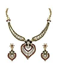 Sukkhi Eye-Catchy Gold Plated Australian Diamond Necklace Set