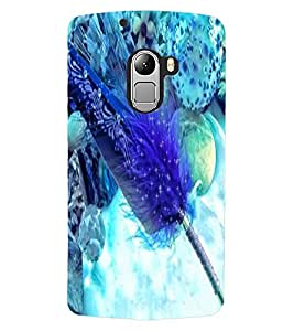 ColourCraft Lovely Feather Design Back Case Cover for LENOVO VIBE X3 LITE